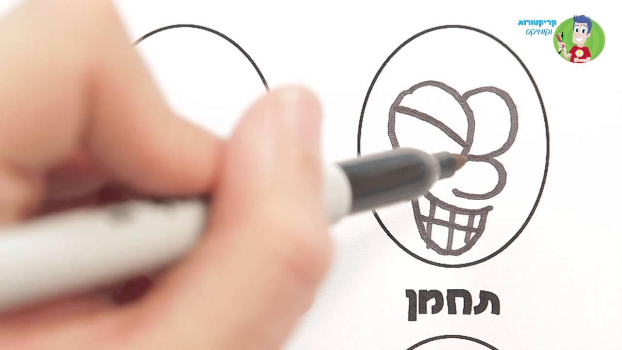 איך לצייר קומיקס - הבעות פנים
