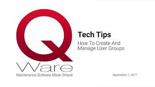 س وير التكنولوجيا نصيحة #4 - كيفية إنشاء وإدارة مجموعات المستخدمين (9/7/2017)