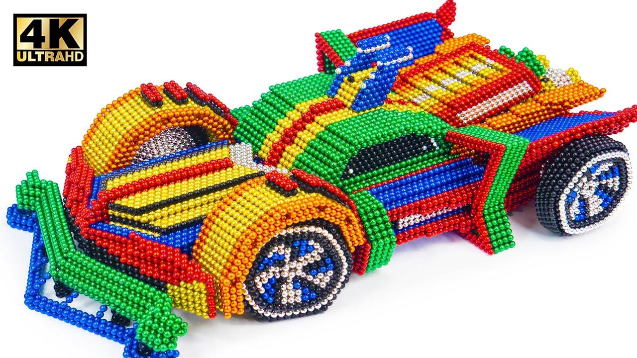 DIY - How To Make Amazing  Batmobile Car From Magnetic Balls (Satisfying ASMR) | Magnet World Series