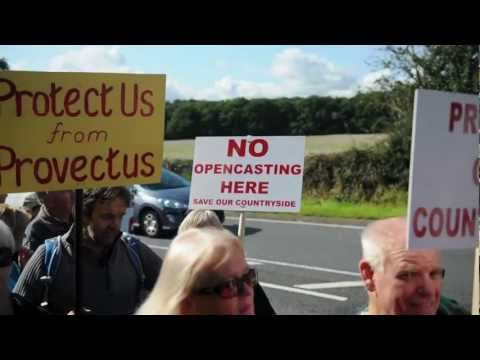 Hilltop Project protest against Open Cast Mining