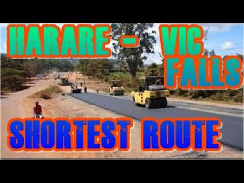 Harare to Victoria Falls Shortest Distance Massive Construction Update