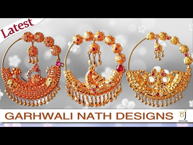 Garhwali Nath Latest Design 2018 24karat Pure Gold Jewellery | Battulal Jewellers