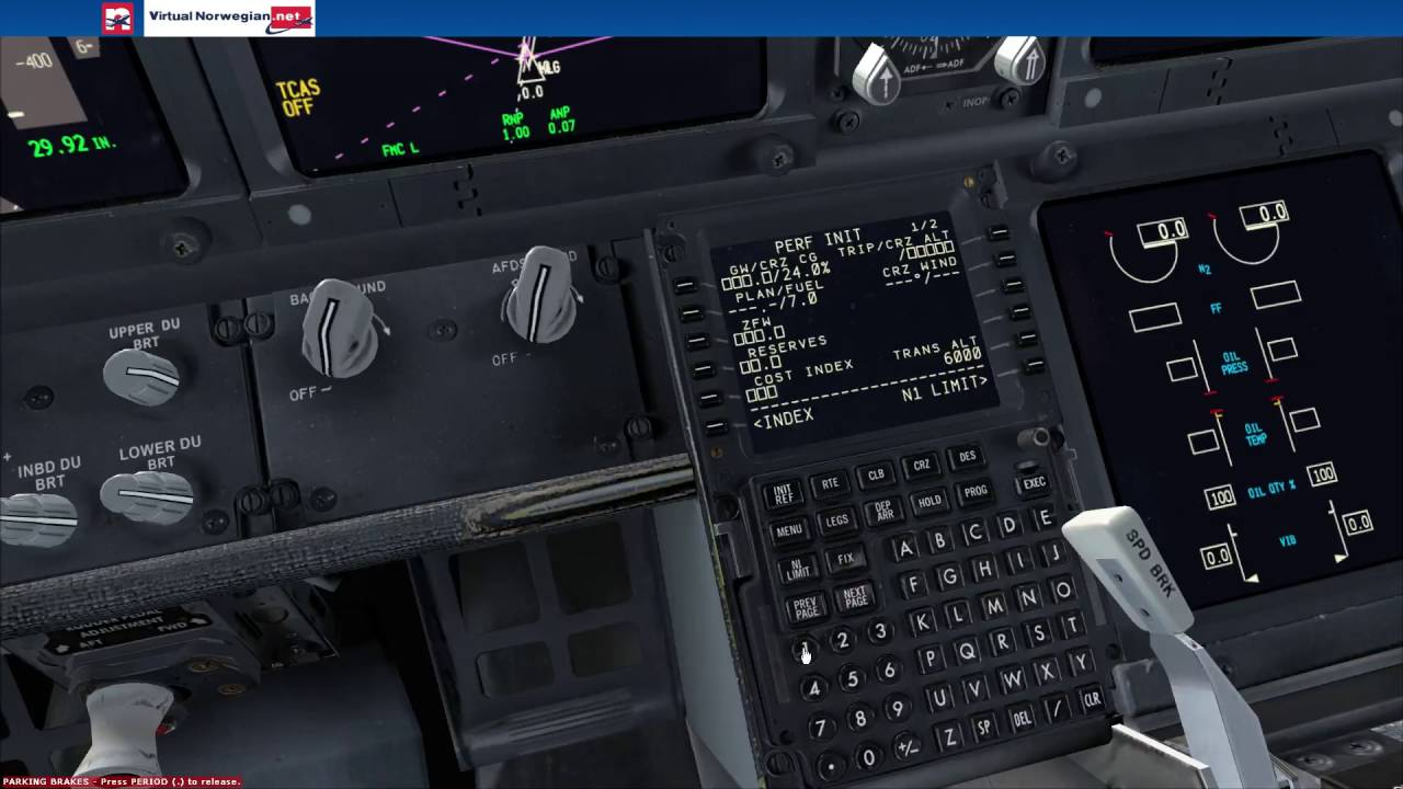 FSX: How to set up the FMC in a 737