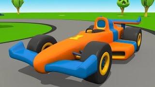 Leo der neugierige Lastwagen und der schnelle RENNWAGEN!! Animation für Kinder