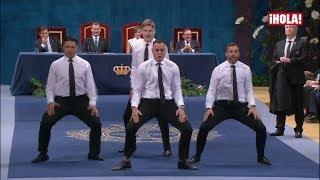 La danza maorí de los All Blacks que sacó una sonrisa a los Reyes