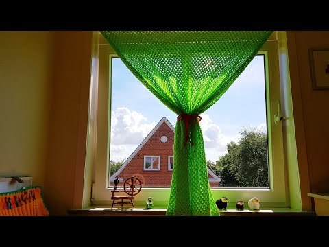 SUPER EASY CROCHET CURTAIN
