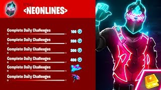*NEW* NEONLINES CHALLENGE PACK IN FORTNITE! *FREE* VBUCK REWARDS in Fortnite! (Free Vbuck Rewards)