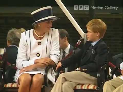 Princess Diana at VJ Day parade