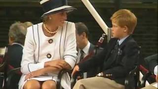 Princess Diana at VJ Day parade