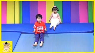 Indoor Playground Learn Kids Fun Colors Color Ball Rainbow for Play Slide Family | MariAndKids Toys