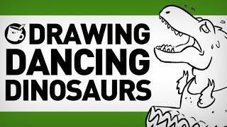 Drawing Dancing Dinosaurs