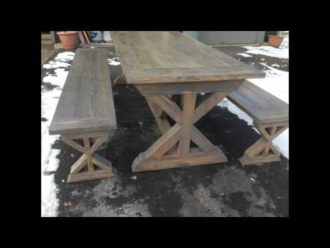 farmhouse table x base
