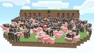 Diese Falle Spawnt über 2.046 Mobs auf seine Insel😮😂.. Minecraft LUCKY BLOCK BEDWARS