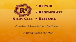 Amniotic Stem Cell Therapy Discussed by R3 (844) GET-STEM