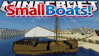 Minecraft: Mod Showcase: Small Boats Mod 1.7.10 !