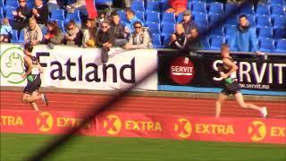 NM Friidrett 5000 meter Jakob Ingebrigtsen vinner