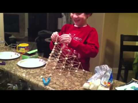 Seven Year Old S Toothpick Pyramid Youtube