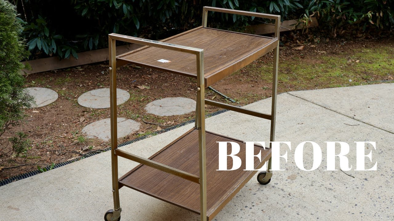 Vintage Bar Cart Makeover From The Thrift Store Furniture