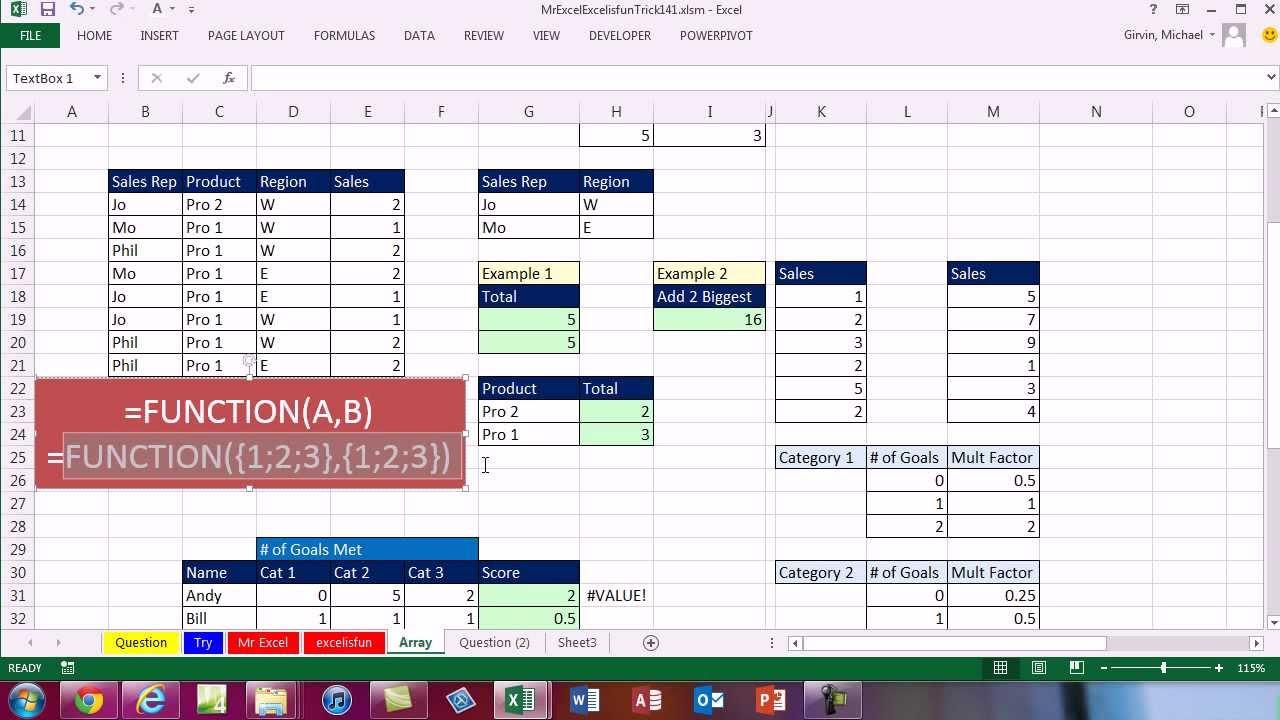 Mr Excel & excelisfun Trick 141: Lookup 3 Items in 3 tables: VLOOKUP,  LOOKUP, VBA, Array? - YouTube