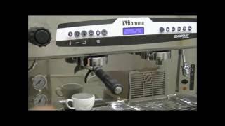 fiamma Espresso Machine: Coffee Portions Programming
