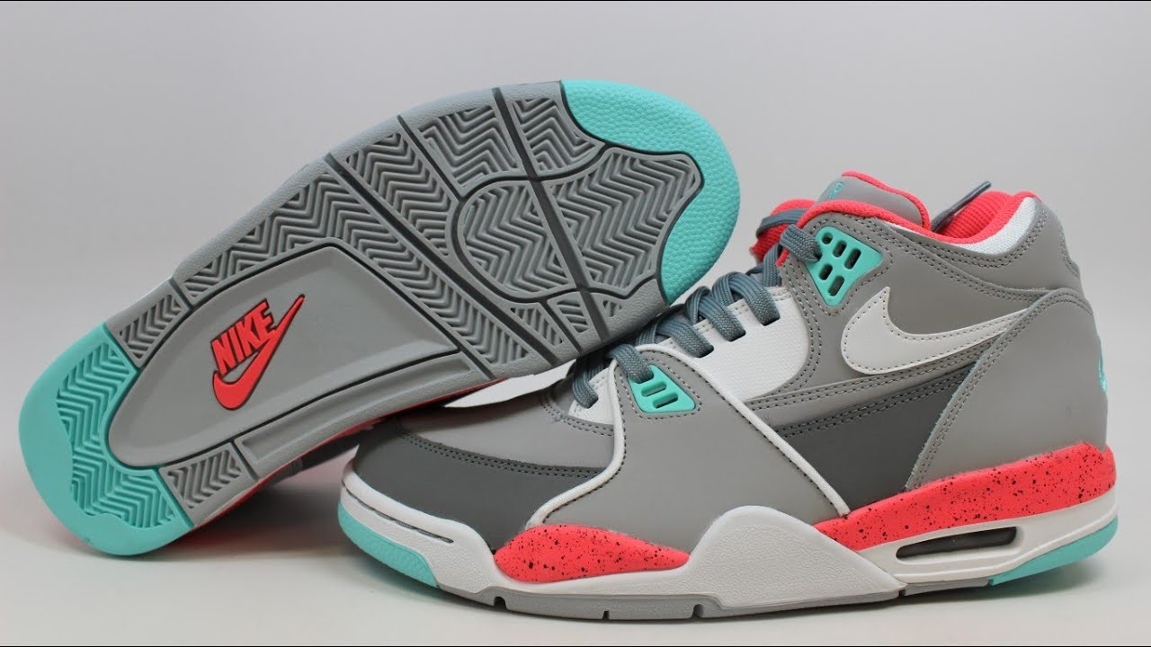 Nike Air Flight 89 Wolf Grey Hyper Turquoise Hyper Punch