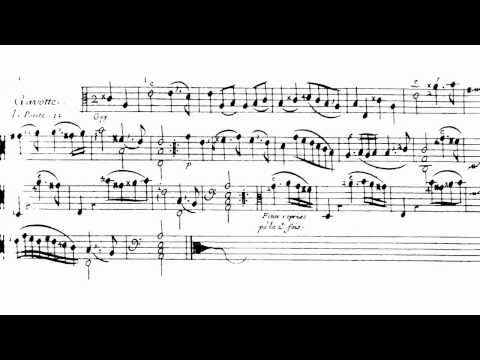 Marin Marais - Gavotte le petite in a-minor Book 3