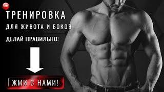 Комплекс упражнений для похудения живота и боков Тренировка для талии в домашних условиях дома