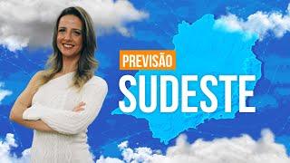 Previsão Sudeste - tempo nublado, com chuva e temperatura mais baixa entre SP, RJ e Sul de Minas.