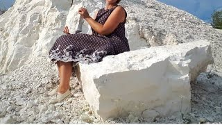 Меловые горы,как добывают глину ,,,,,,Cretaceous Mountains, How To Extract Clay