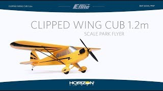 E-flite Clipped Wing Cub 1.2m BNF Basic and PNP