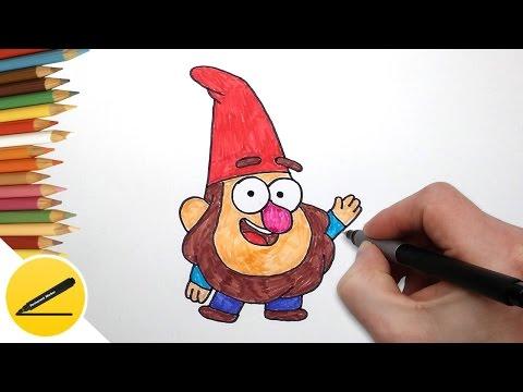 Как Нарисовать Гнома из Гравити Фолз | Рисуем