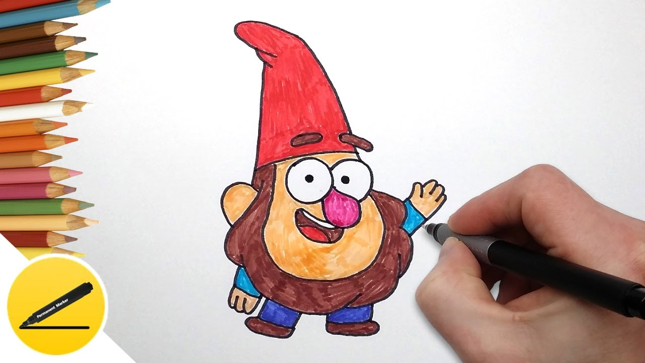 Как нарисовать рисунок гнома 3 класс