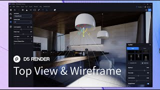 D5 Render 1.6.2  | Top View&Wireframe Display Mode