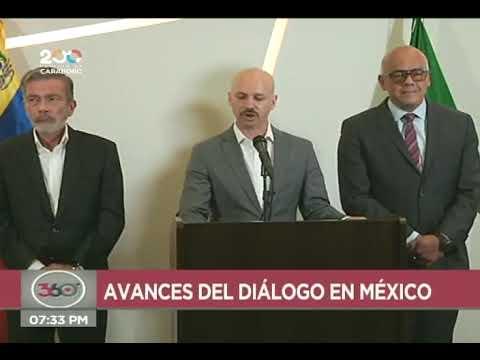 Gobierno y oposición en mesa de diálogo en México se manifiestan contra xenofobia en Iquique, Chile