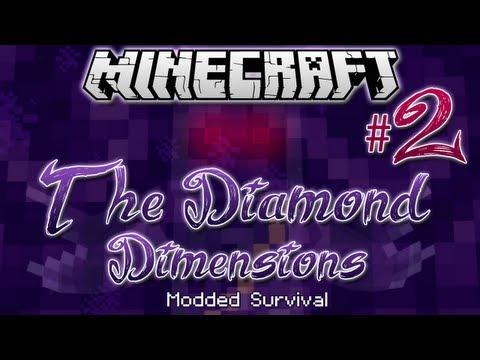 """BONE KNIGHTS & CREEPS!"" | Diamond Dimensions Modded Survival #2 | Minecraft"