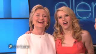 Kate McKinnon impressions of Ellen and Hillary Clinton back-to-back