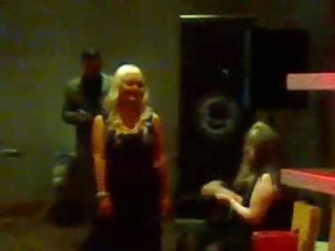 My evening wear catwalk on the red carpet at Miss G Casino 2014!! [[By LASERSTORM!]]