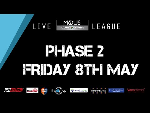 The LIVE MODUS ICONS OF DARTS LEAGUE PHASE 2: FRIDAY 8TH MAY
