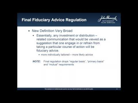 DoL Fiduciary Rule Webinar w/ ERISA Attorney