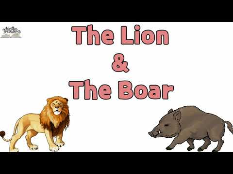 The Lion and The Boar   Short Stories   Moral Stories   Short Stories in English  