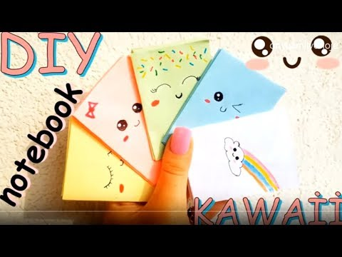 DIY - Easy Mini Kawaii Notebooks from ONE sheet of Paper ( NO GLUE )