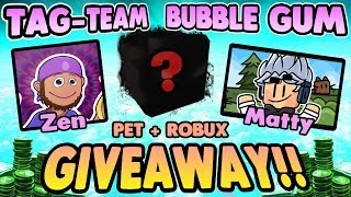 Bubble Gum Simulator Live Giveaway with Its Matty - Robux, Free Pets, and Zfuel (Roblox 2019)