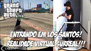 GTA V - ENTRANDO EM LOS SANTOS COM REALIDADE VIRTUAL ( OCULOS RIFT ) SURREAL !