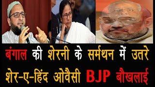 बंगाल की शेरनी के सर्मथन में उतरे शेर-ए-हिंद ओवैसी BJP बौखलाई  Lok Sabha Election 2019  