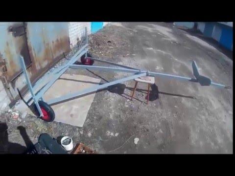 тележка для лодки своими руками видео
