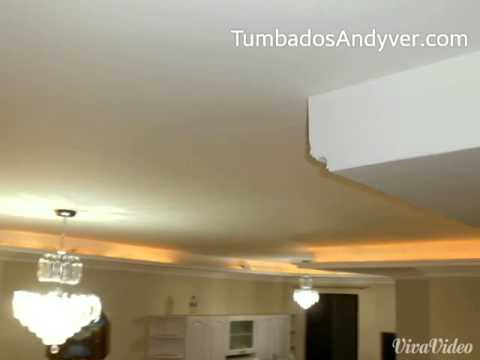 Nichos Y Luces Indirectas Con Gypsum Tumbados Youtube - Luces-indirectas