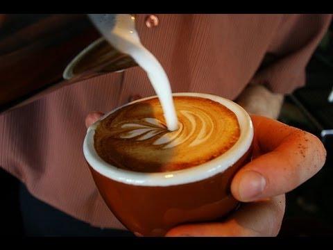 Как делают рисунки на кофе