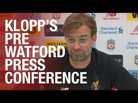 Jürgen Klopp's Watford press conference from Melwood