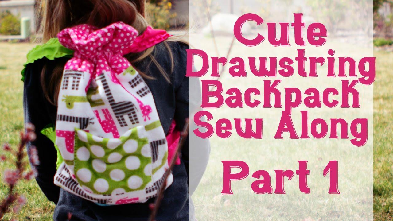Cute Drawstring Backpack Tutorial Beginner Friendly Fleece Fun