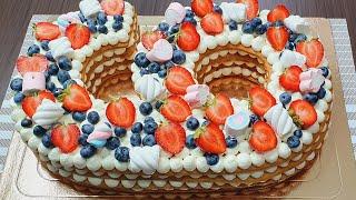 Этот торт будет самый красивый нежный и вкусный торт в вашей жизни Готовится очень быстро